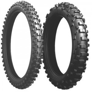 The Bridgestone Gritty ED668 -Rear is an F.I.M Approved, Road Legal Enduro tyre
